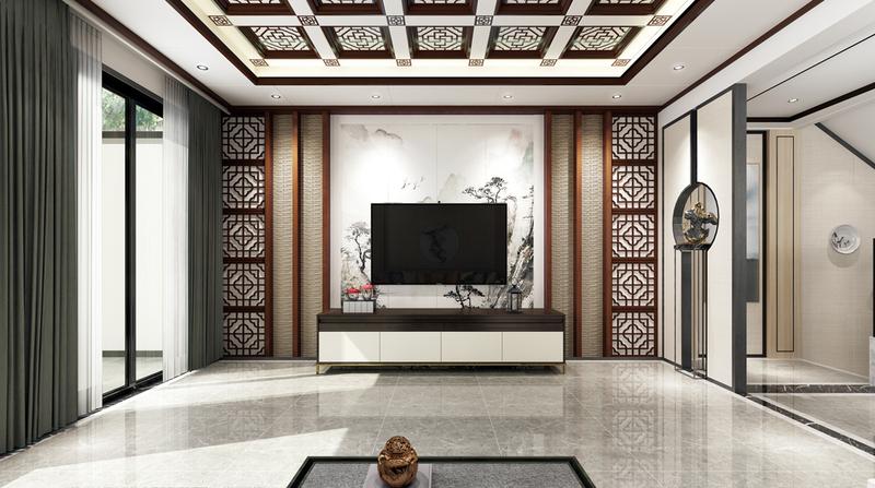 中式風格客廳電視背景墻