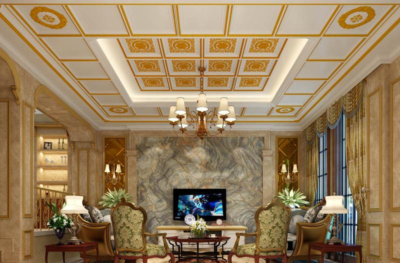 美式風格客廳吊頂
