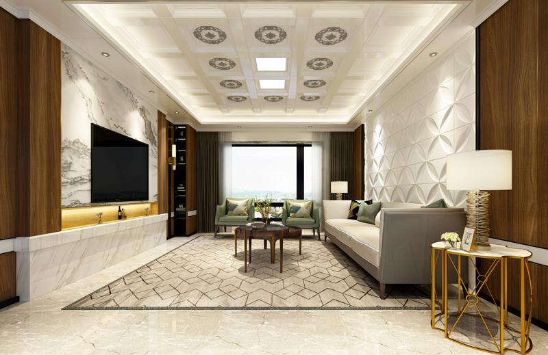 现代风格客厅吊顶--尊享系列
