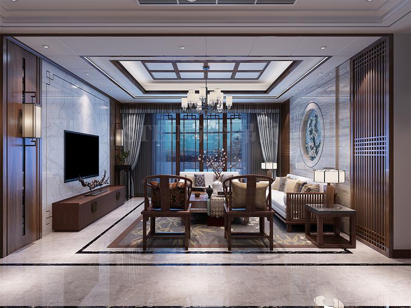 中式風格客廳吊頂