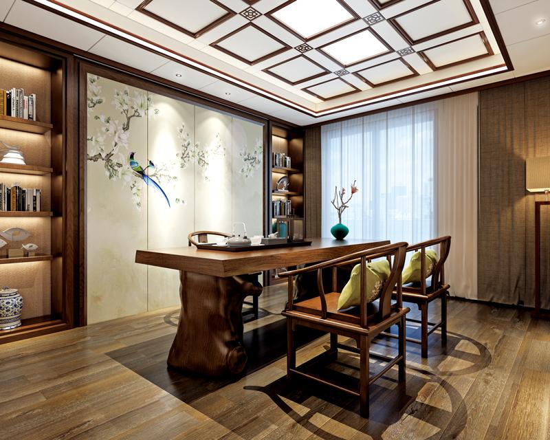 中式書房茶室吊頂