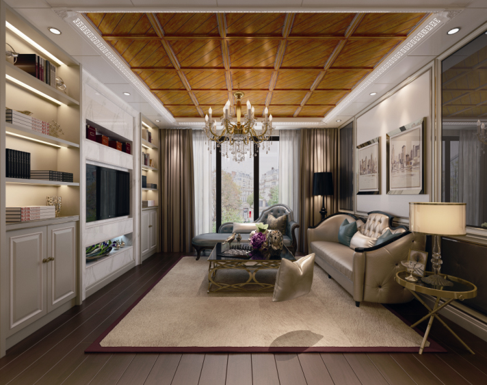 美式風格客廳