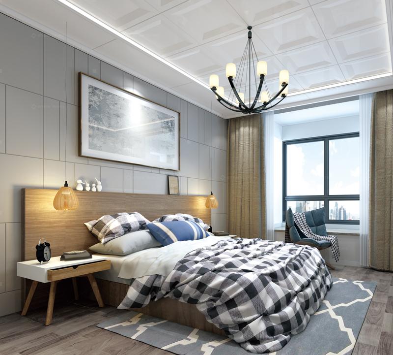 天井現代風臥室吊頂