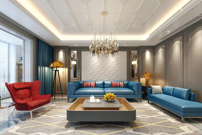 现代风格客厅吊顶